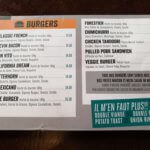 Carte des burgers