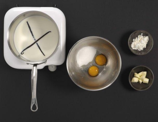 Préparation de la crème pâtissière