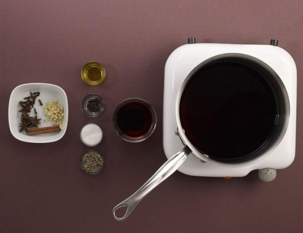 bar de ligne courgettes r duction au vin rouge d 39 alain alexanian. Black Bedroom Furniture Sets. Home Design Ideas