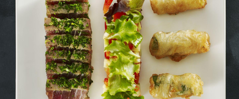 recette de chef st phane r tif pr sente sa recette thon rouge fa on sashimi compot e de. Black Bedroom Furniture Sets. Home Design Ideas