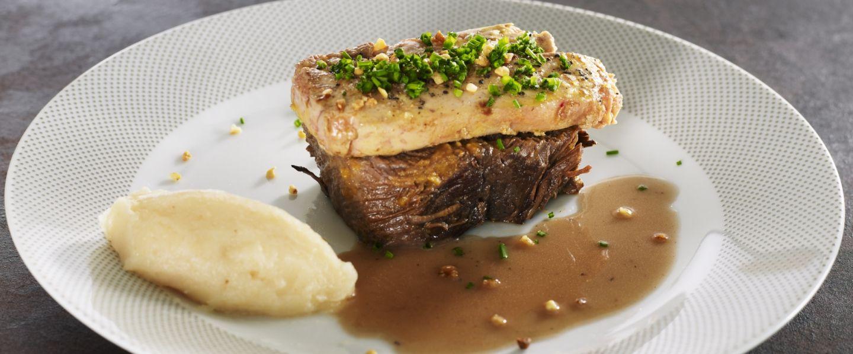 Recette de chef r my giraud pr sente sa recette tournedos de paleron de b uf rossini - Comment cuisiner le canard entier ...