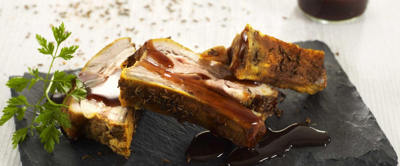 Recette de chef les plats indispensables pr sente sa recette travers de porc confits - Cuisiner travers de porc ...